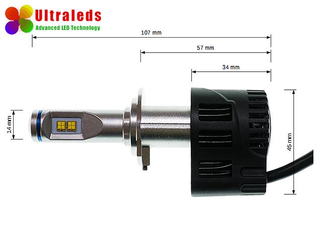 Żarówka H7 - Zestaw LED P6 - 2 x 55W 5200 LM Philips MZ